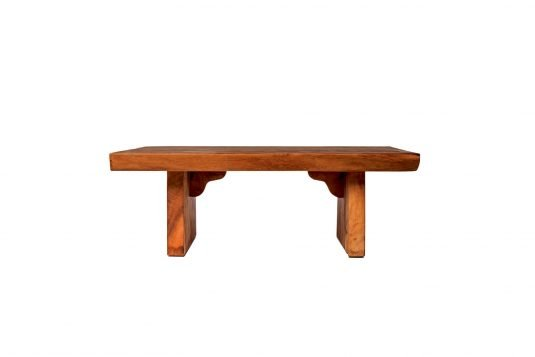 Picture of rectangular coffee table suar from front