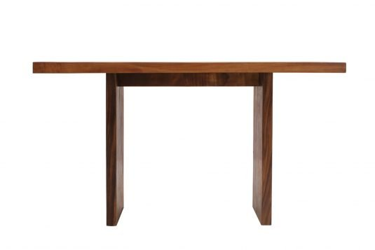 picture of rectangular bar table / consolle with oiled wood finishing