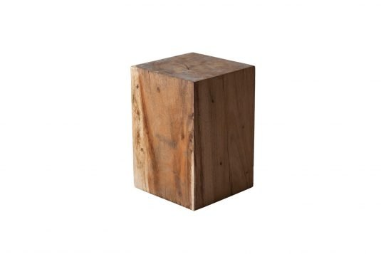 Photo of square side table / stool from side
