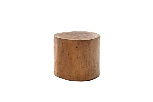 Picture of round side table / stool with oiled wood finishing