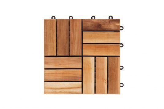 Picture of teak garden tile with pvc baking system