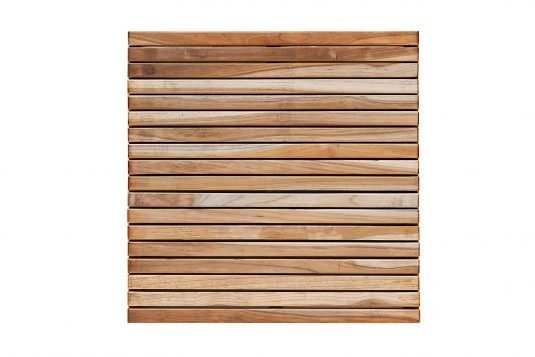 Picture of teak garden tile fine sanded wood finishing