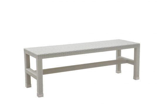 Picture of backless garden bench from side