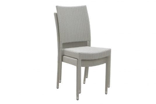 Picture of dining chair with synthetic rattan