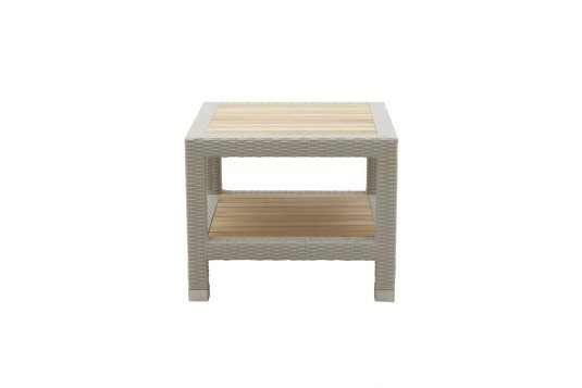 Picture of square side table from front