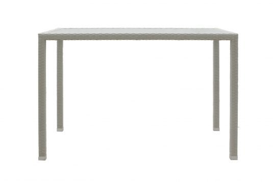 Picture of rectangular bar table from front