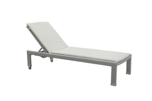 Picture of sunlounger with cushion but without arms