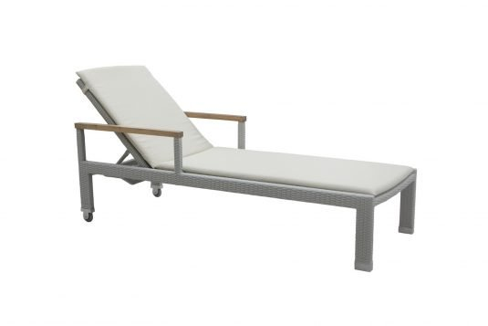 Picture of sunlounger with arms from side
