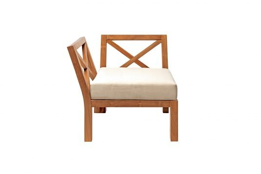 Picture of lounge chair corner unit from front