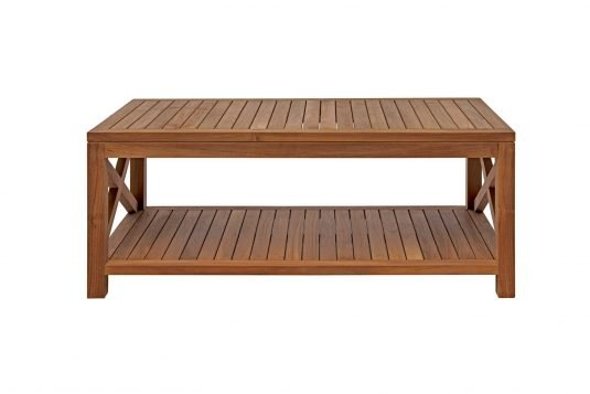 Picture of rectangular coffee table with fine sanded finishing