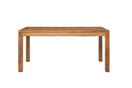 Picture of rectangular table from front