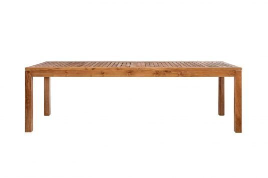 Picture of rectangular dining table fine sanded wood finishing