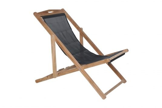 Picture of adjustable deckchair with black seating