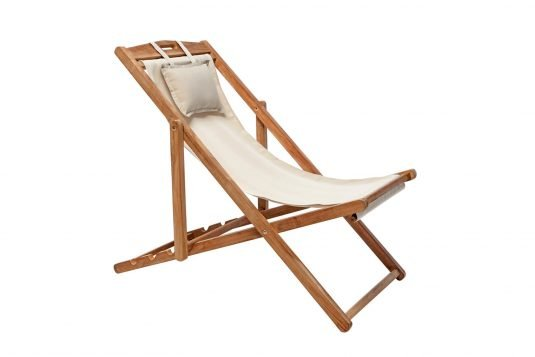 picture of deckchair with classic sling from side
