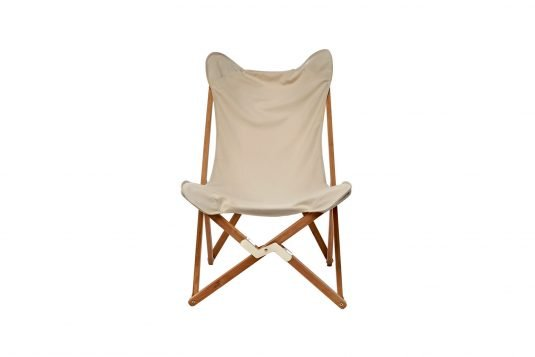Picture of folding butterfly chair from front