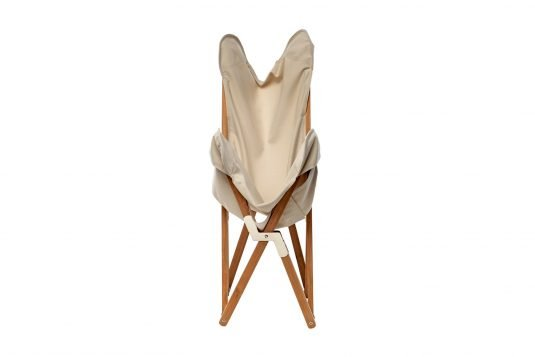 Picture of folding butterfly chair with natural fabrics