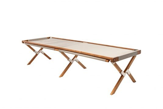 Picture of folding cot from side