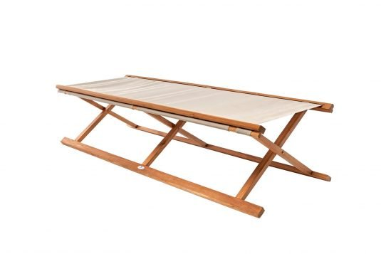 Picture of folding cot with fine sanded finishing