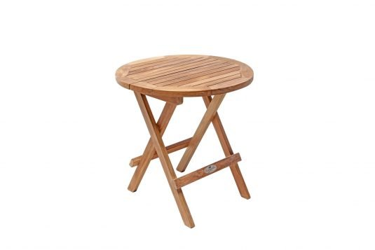 Picture of round side table with fine sanded finishing