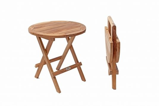 Picture of round side table from side