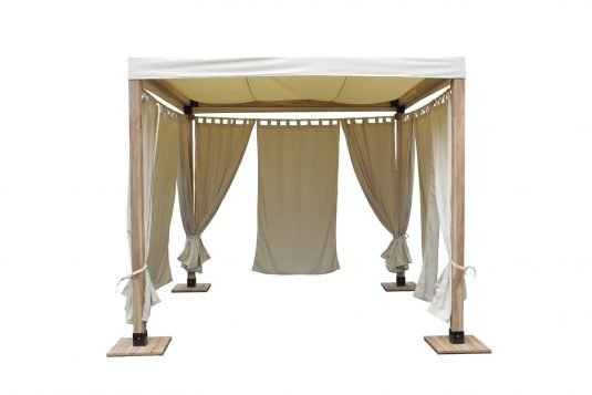Picture of gazebo frame from front