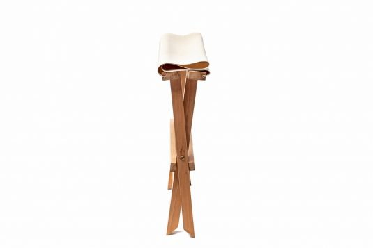 Picture of stool with natural fabrics