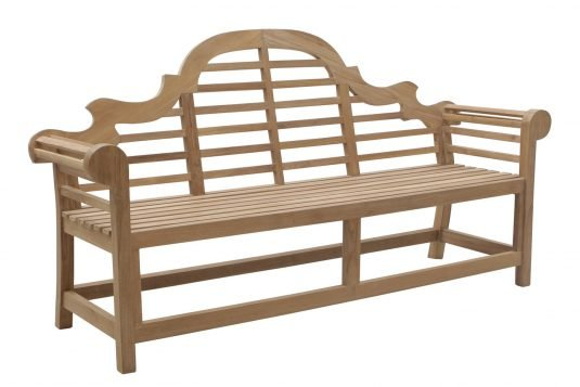 Picture of garden bench with fine sanded finishing