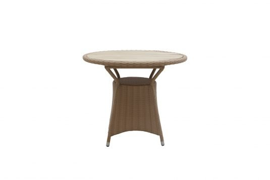 Picture of round dining table from front