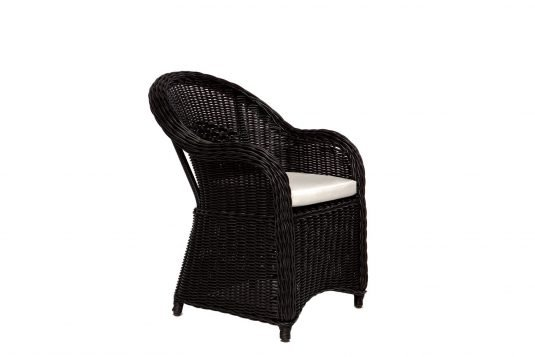 Picture of lounge chair with black rattan from side
