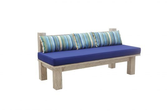 Picture of garden bench with three backrest from side