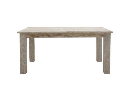Picture of rectangular solidtop dining table with white sand finishing
