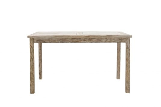 Picture of rectangular dining table from front