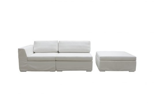Picture of lounge chair with canvas white fabrics